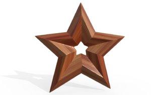3D decorative star craft model