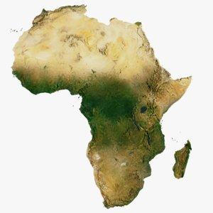 continent africa world 30k 3D