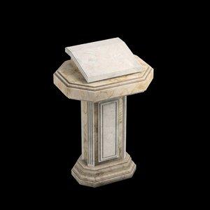 3D marble pulpit model