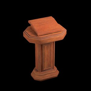 wood pulpit 3D