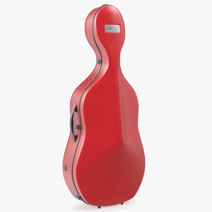 3D model classic cello case closed