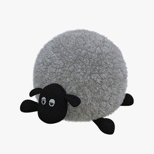 3D lamb toy 02 model