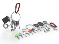 Set Of Keys with chain and carabiner
