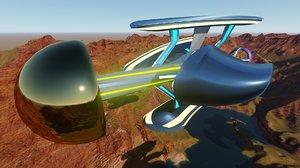 sci fi spaceship design 3D model