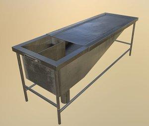 3D autopsy table