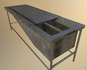 worn autopsy table pbr model
