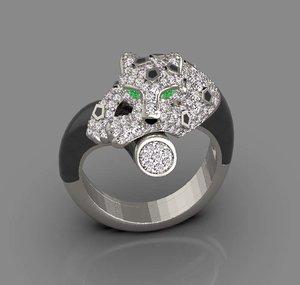 3D ring jewelry model