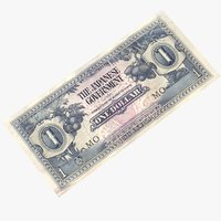 3D british malaysia 1 dollar model