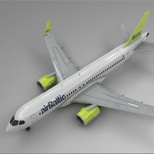 air baltic airbus a220-300 3D model