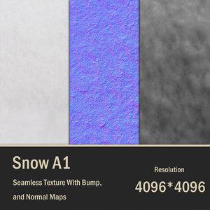 4K Snow Seamless Texture A1 4096 px