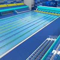 3D olympic swimming pool model