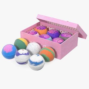 3D model shinymod bath bombs