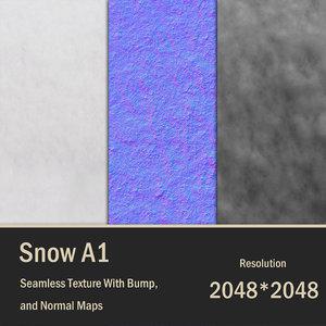 2K Snow Seamless Texture A1 2048 px