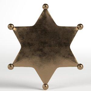 sheriff badge 3D model