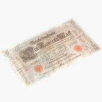 vintage 1000 marks germany model