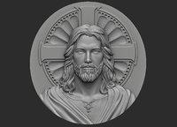 medallion jesus 1 3D model