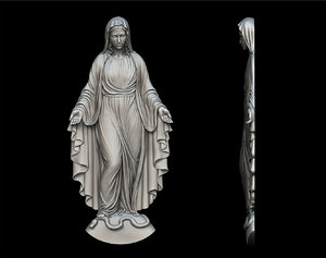 3D virgin mary figure pendant model