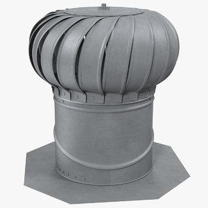 3D roof turbine vent model