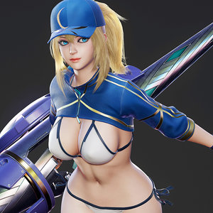 mysterious heroine xx - 3D model