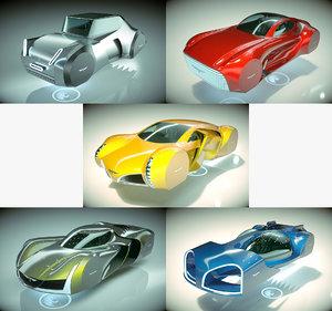 3D model 5 1 cool hover car