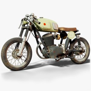 3D gilera motorcycle gameready cycles model
