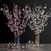 Cherry Blossom Sakura Dogwood Flower Branch Decorative Vases