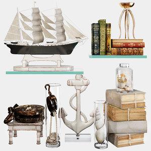 decorative set 64 3D model