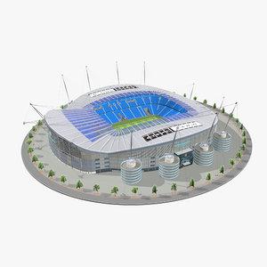 3D model etihad stadium manchester
