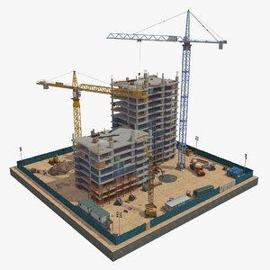 scene construction 2 3D model
