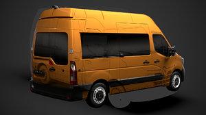 renault master l2h3 minibus 3D model