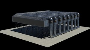 combined cycle power plant 3D model