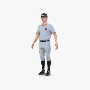 3D baseball player