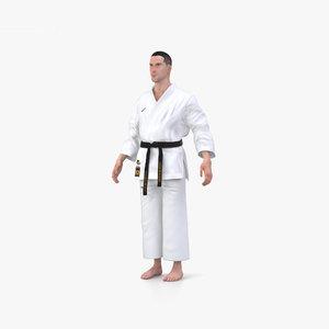 karate uniform 3D model