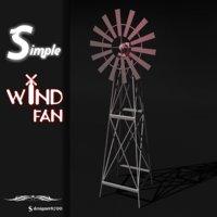 3D simple wind model