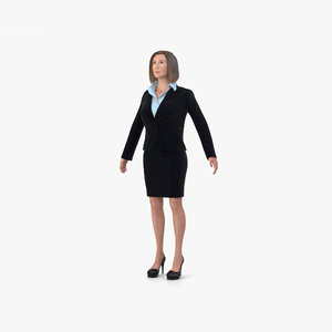 3D business woman model