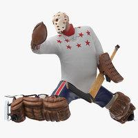 3D ice hockey goalie missing