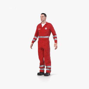 3D model paramedic medic