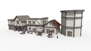 3D model medieval assets buildings