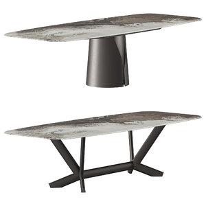 3D cattelan italia table model