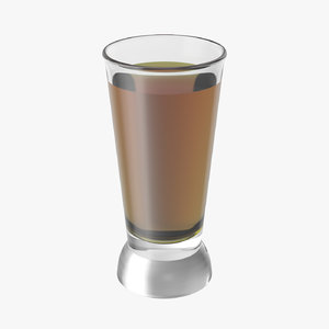 realistic shot glass 3D