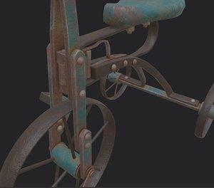 3D vintage ron children bicycle
