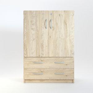 wood wooden cabinet 3D
