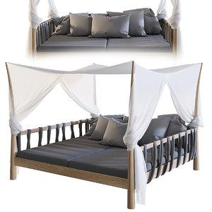 hammock sunbed chair 3D model