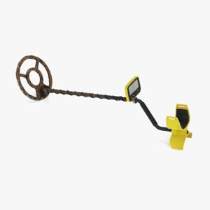 metal detector dirty 3D model