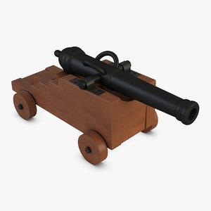vessel cannon 3D model