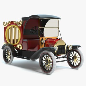 3D circus wagon model