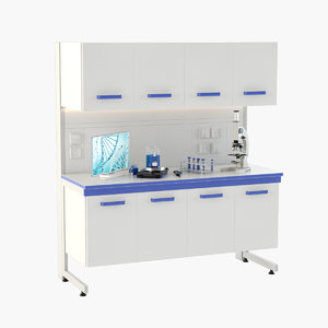 laboratory table 3D model