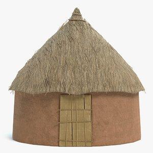 3D african hut