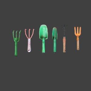 garden tools 3D model