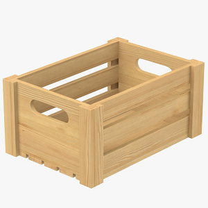 3D model wooden crate wood